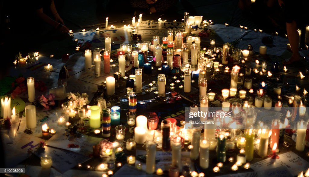 Orlando Massacre Vigil in Philadelphia, Pennsylvania : Stock Photo