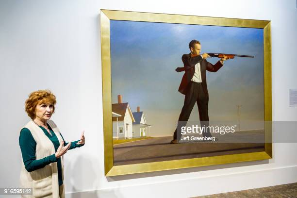 Orlando Mennello Museum of American Art Guide with Bo Bartlett Painting