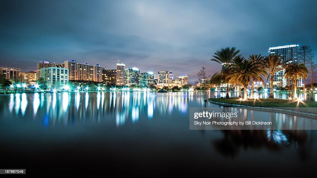 Orlando night cityscape : Stock-Foto