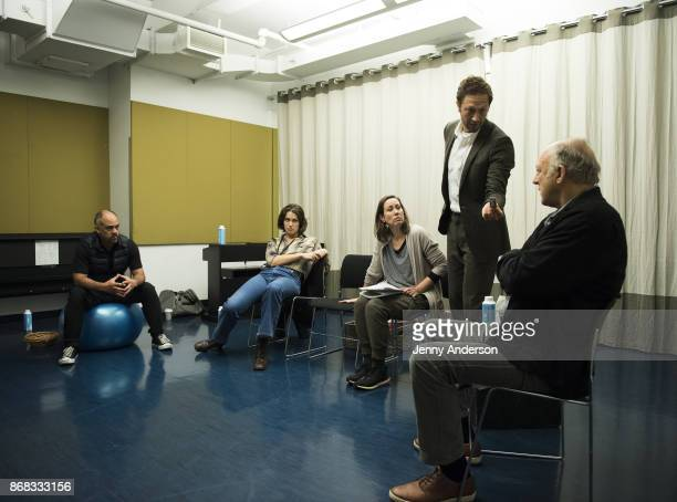 Orlando Pabotoy, Lola Kirke, Miriam Shor, Ebon Moss-Bachrach and John Doman in rehearsal for 24 Hour Plays on Broadway at American Airlines Theatre...