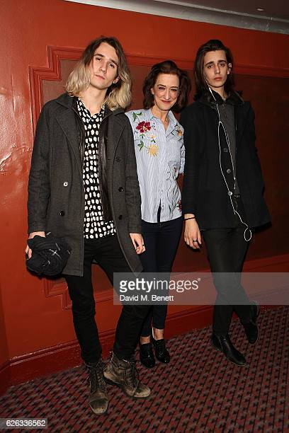 Orlando Phipps Haydn Gwynne and Harrison Phipps attend an after party celebrating the gala concert performance of 'New Songs 4 New Shows' presented...