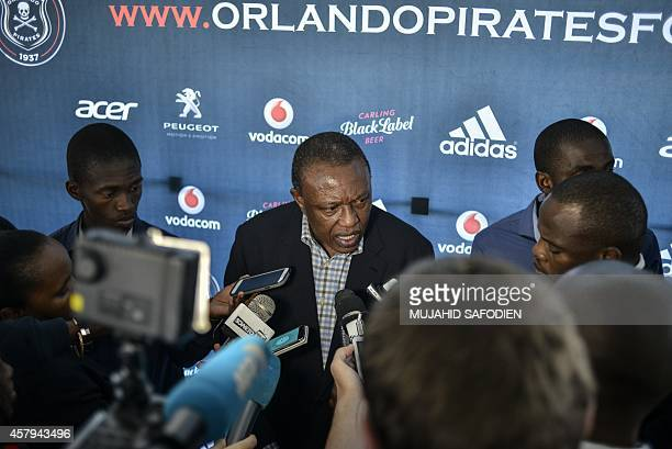 Orlando Pirates and South African Premier League chairman Doctor Ivan Khoza gives a press conference on the death of Pirates club and National Team...