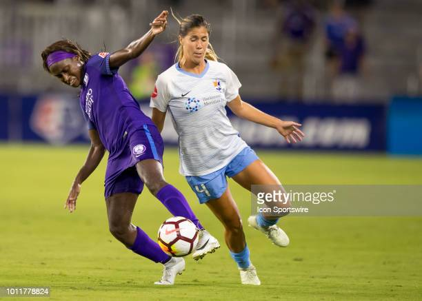 Orlando Pride forward Chioma Ubogagu during the NWSL soccer match between the Orlando Pride and New Jersey Sky Blue FC on August 5th 2018 at Orlando...