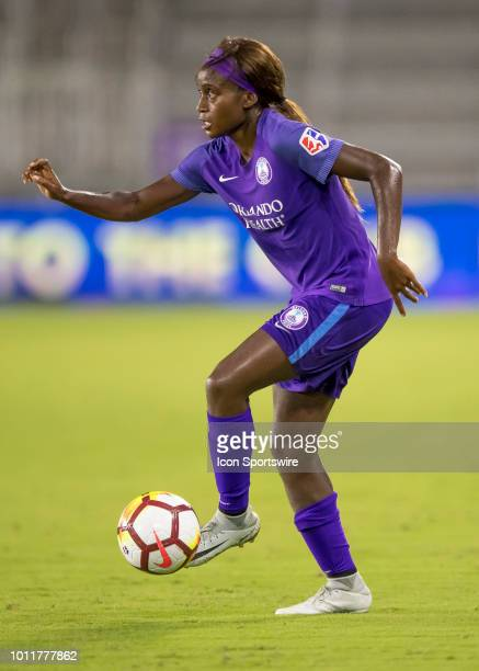 Orlando Pride forward Chioma Ubogagu looking to pass during the NWSL soccer match between the Orlando Pride and New Jersey Sky Blue FC on August 5th...