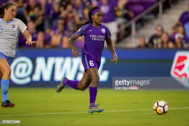 Orlando Pride forward Chioma Ubogagu with the ball during the soccer match between The Orlando Pride and Sky Blue FC on June 16 2018 at Orlando City...