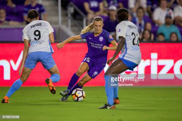Orlando Pride forward Rachel Hill during the soccer match between The Orlando Pride and Sky Blue FC on June 16 2018 at Orlando City Stadium in...
