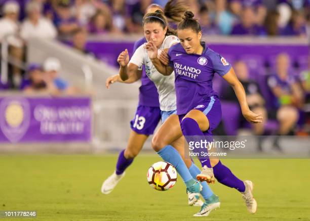 Orlando Pride midfielder Camila drives towards the goal during the NWSL soccer match between the Orlando Pride and New Jersey Sky Blue FC on August...