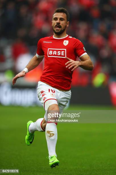 Orlando Sa of Standard Liege in action during the Belgian Jupiler Pro League match between Royal Standard de Liege and KAA Gent held at Stade Maurice...