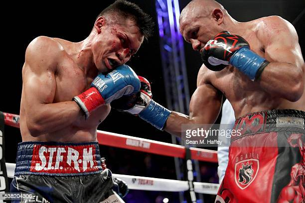 Orlando Salido throws a right at Francisco Vargas during their WBC super featherweight championship bout at StubHub Center on June 4 2016 in Carson...