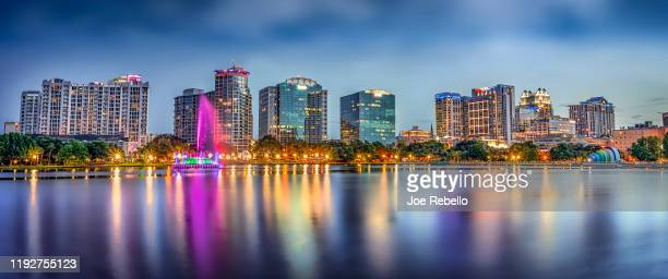 orlando skyline - florida usa stock-fotos und bilder