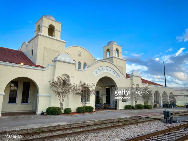 orlando station or commuter train station - orlando florida stock pictures, royalty-free photos & images