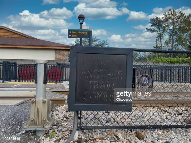 orlando station or commuter train station - coming soon stock pictures, royalty-free photos & images