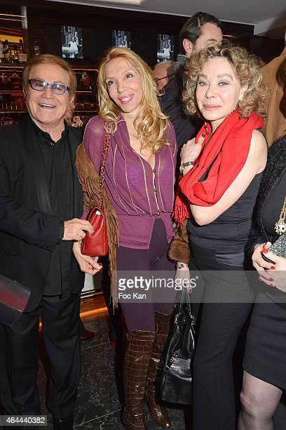 Orlando Sylvie Elias and Grace de Capitani attend the Massimo Gargia Private photo exhibition dinner party at Le Cosy on February 25 2015 in Paris...