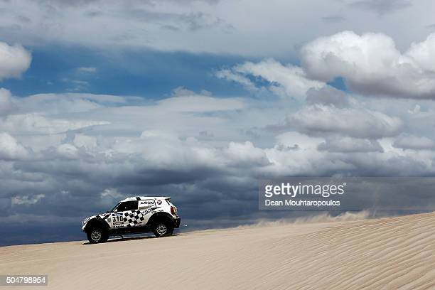 Orlando Terranova of Argentina and Bernardo Graue of Argentina in the MINI ALL4 RACING for AXION XRAID TEAM compete on day 11 stage ten between Belen...