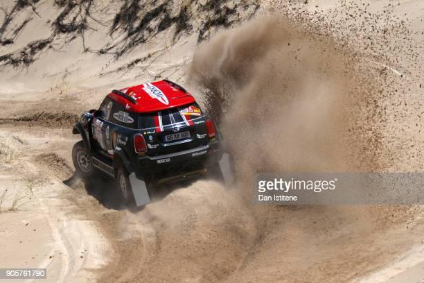 Orlando Terranova of Argentina and Mini X-Raid drives with co-driver Bernardo Graue of Argentina in the Mini John Cooper Rally Works car in the...