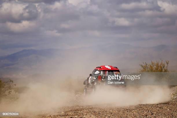 Orlando Terranova of Argentina and Mini XRaid drives with codriver Bernardo Graue of Argentina in the Mini John Cooper Rally Works car in the Classe...