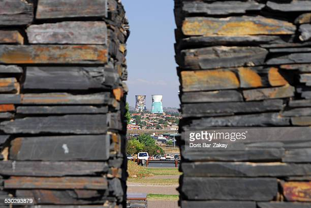 orlando towers station, soweto ,johannesburg - soweto towers stock pictures, royalty-free photos & images