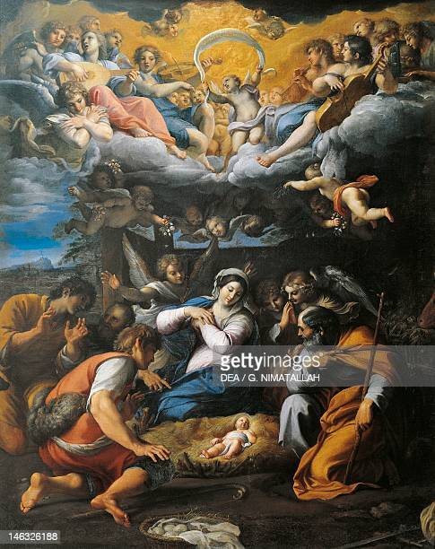 Orleans Musée Des BeauxArts Adoration of the Shepherds by Annibale Carracci oil on canvas 103x85 cm