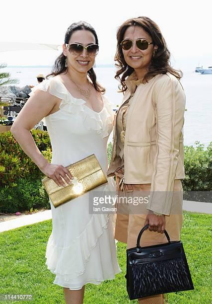 Orna Gusinski and Hind El Achchabi attend the Sea Shepherd lunch sponsored by producers Mohammed Al Turki and Hamza Talhouni honoring Michelle...