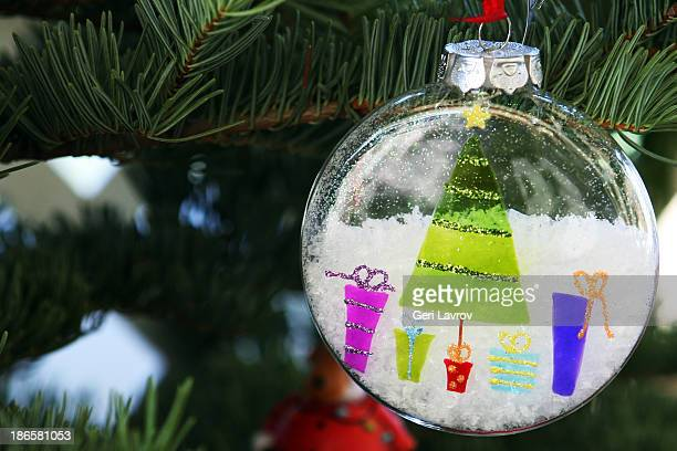 Ornament hanging on a Christmas tree