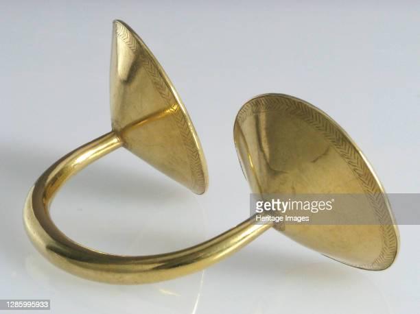 Ornament, Irish, ca. 800 B.C. Dress or sleeve fastener. Artist Unknown.