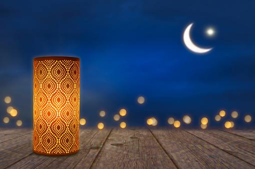 ornament lantern in moonlight 968897858