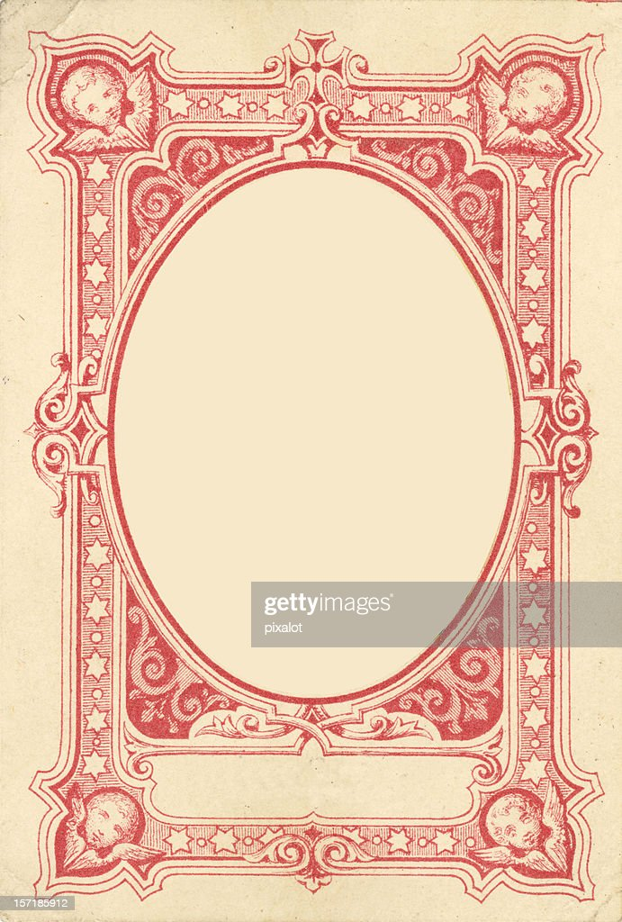 Ornamental Angel frame : Stock Photo