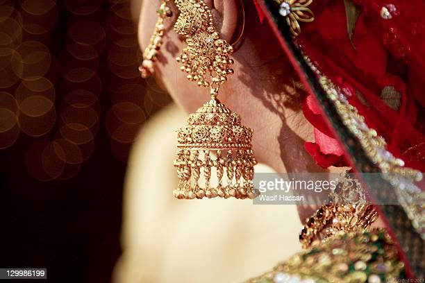 ornamental beauty - bangladeshi bride stock photos and pictures