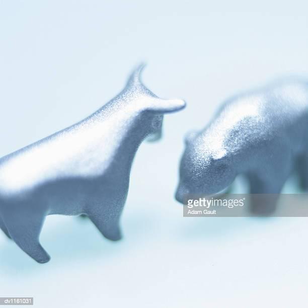 Ornamental Bull and Bear Toys