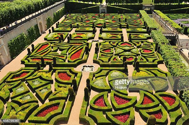 Jardin modèle au Château de Villandry