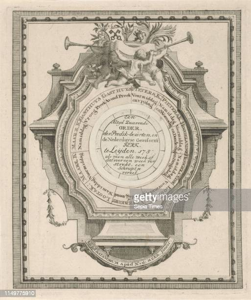 Ornamental sermon wiser for church attendance in Leiden The Netherlands, Noach van der Meer , 1750 - 1759