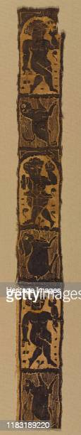 Ornamental Shoulder Bands from a Tunic 500s The orientation of the figures indicates that these were vertical bands on a tunic descending from the...