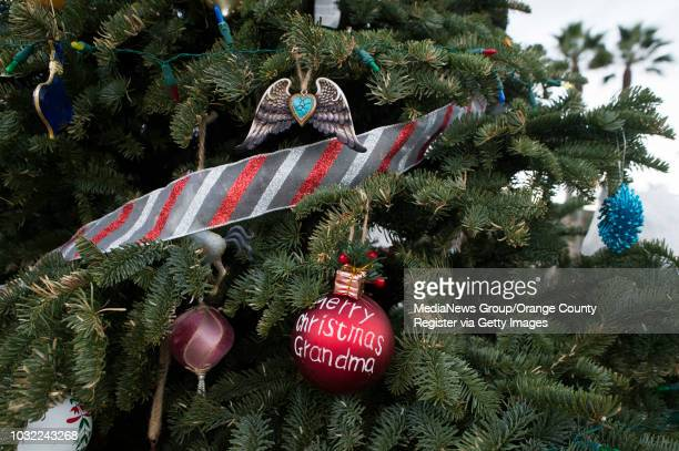 Ornaments adorn the Christmas tree at Calafia State Beach in San Clemente on Wednesday, Dec. 20, 2017. This year marks 10 years that Debbie Sheldrake...