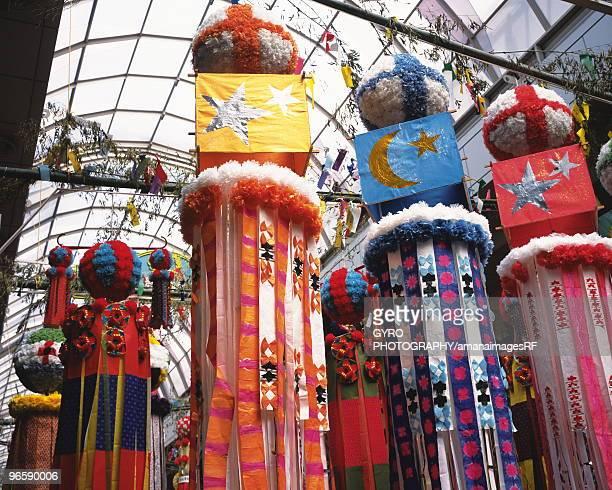 Ornaments for Tanabata festival, Sendai city, Miyagi prefecture, Japan