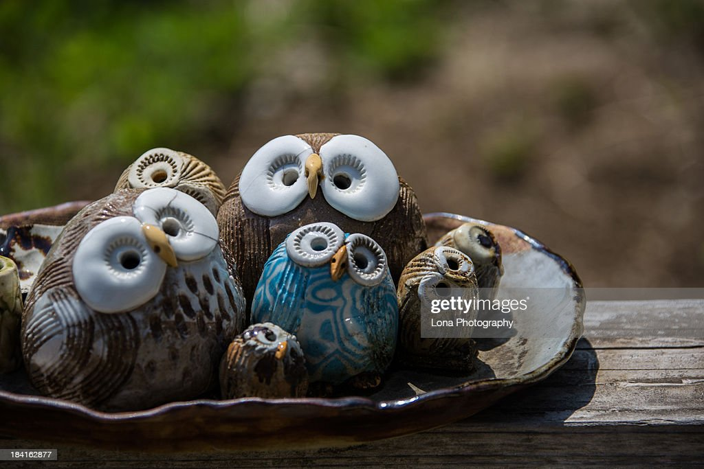 Ornaments of owl : Stock Photo