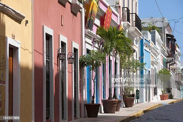 Ornate buildings on city street