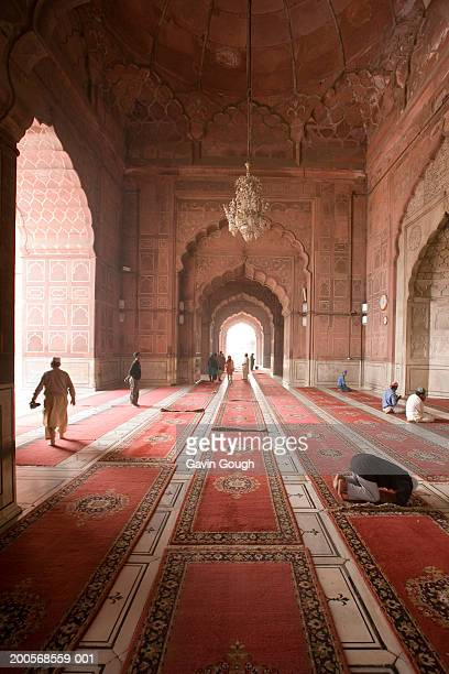 Ornate carpets inside Jama Masjid mosque