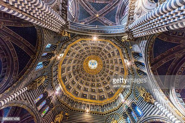 Ornate ceiling of Siena Cathedral, Siena