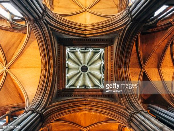 ornate church ceiling - truro cornwall stock pictures, royalty-free photos & images