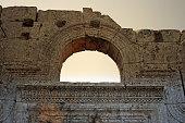 Ornate door lintel, St Simeon's Church, Syria.