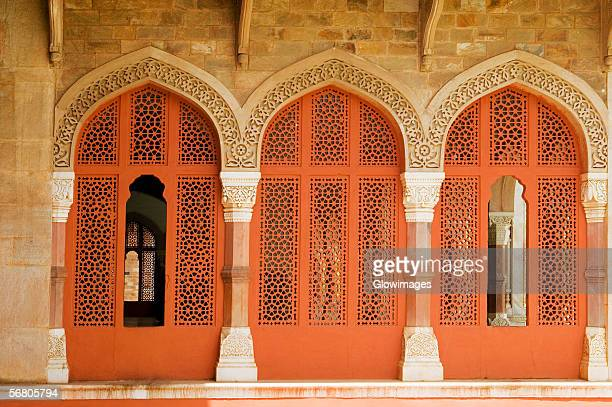 Ornate doorways inside a museum, Government Central Museum, Jaipur, Rajasthan, India