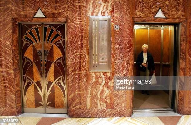 Ornate elevators are seen in the Chrysler Building as the press were given a tour to mark the 75th Anniversary of the New York Landmark May 27 2005...