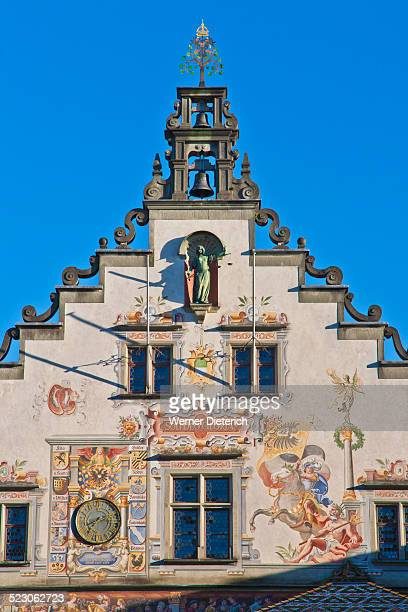 Ornate Facade Renaissance Style Paintings Old Town Hall Lindau Lake Constance