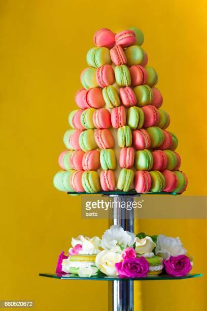 Reich verzierte französische Macarons Baum