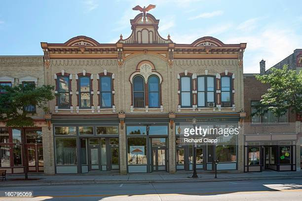 Ornate historic retail and commercial building in Sheboygan, WI