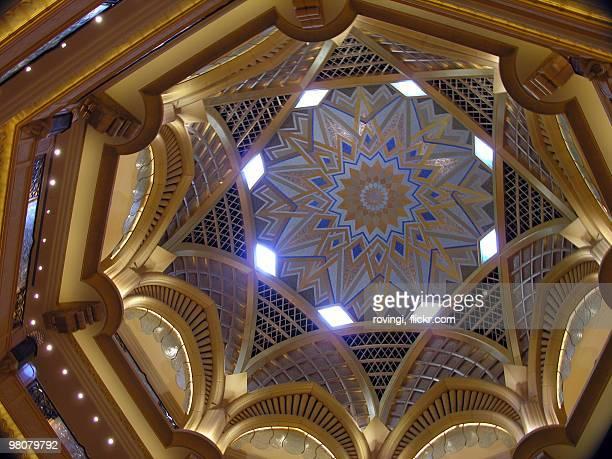 Ornate hotel ceiling