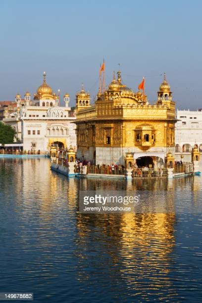 Ornate Indian building surrounded by water