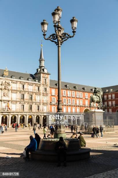 Ornate Lamp, Plaza Mayor square, Madrid