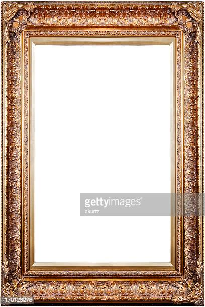 凝った装飾の広々としたアンティークゴールドフレームブランク銅絶縁 xxl 彫り - ルネッサンス様式 ストックフォトと画像
