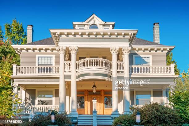 ornate mansion in the nob hill area portland oregon usa - tradition stock pictures, royalty-free photos & images